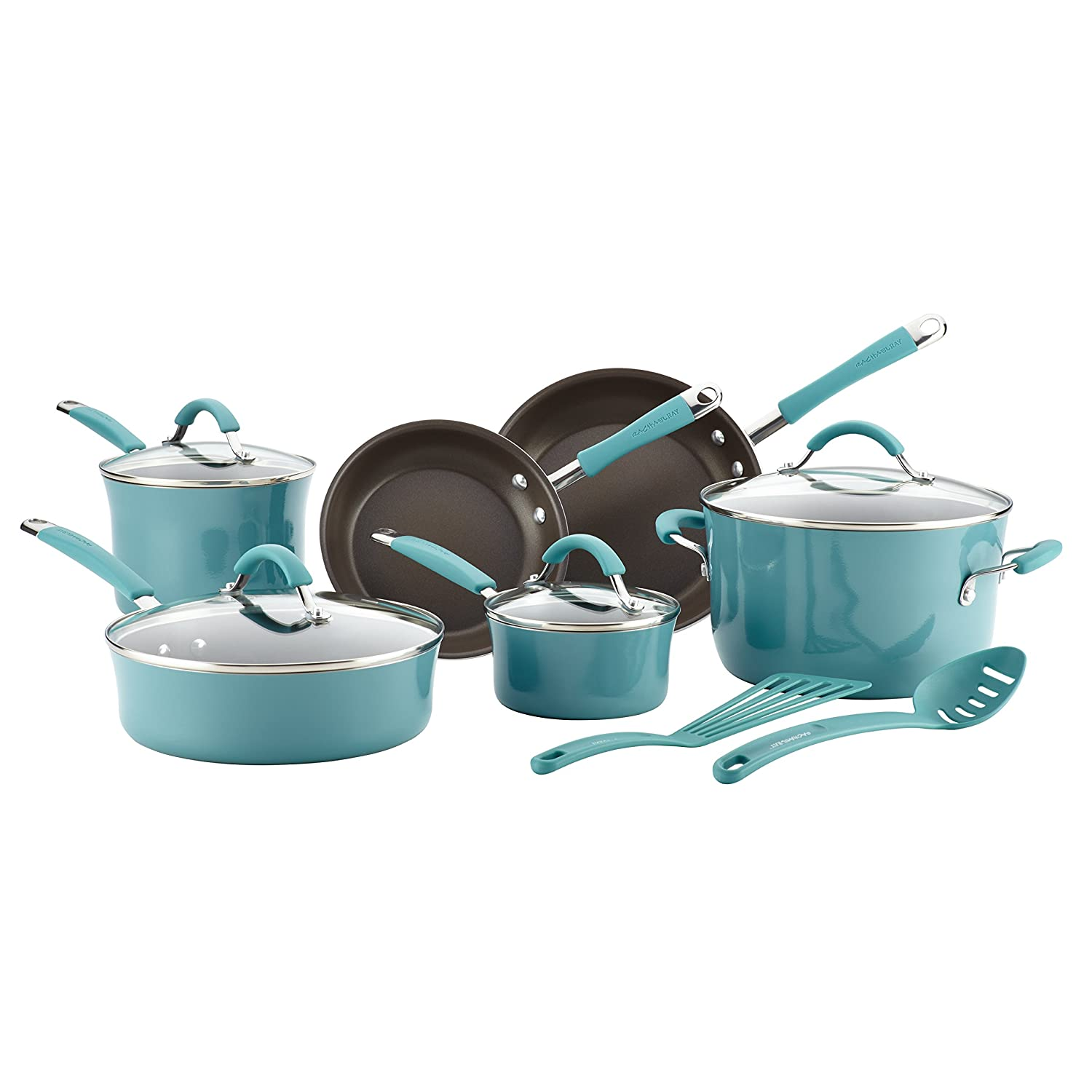Amazon.com: Rachael Ray Cucina Hard Porcelain Enamel Nonstick ...