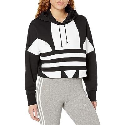adidas Originals Women's Large Logo Cropped Hoodie Sweatshirt at Women's Clothing store