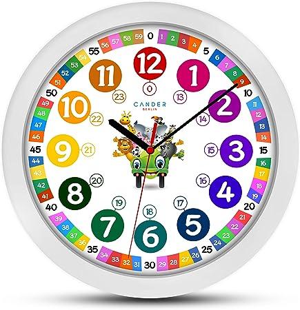 ONETIME Orologio da Parete per Bambini (Ø) 30,5 cm Orologio da Parete per Bambini con Orologio e silenziosa farbenfrohem Design con Animali </p>                     </div>   <!--bof Product URL --> <!--eof Product URL --> <!--bof Quantity Discounts table --> <!--eof Quantity Discounts table --> </div>                        </dd> <dt class=