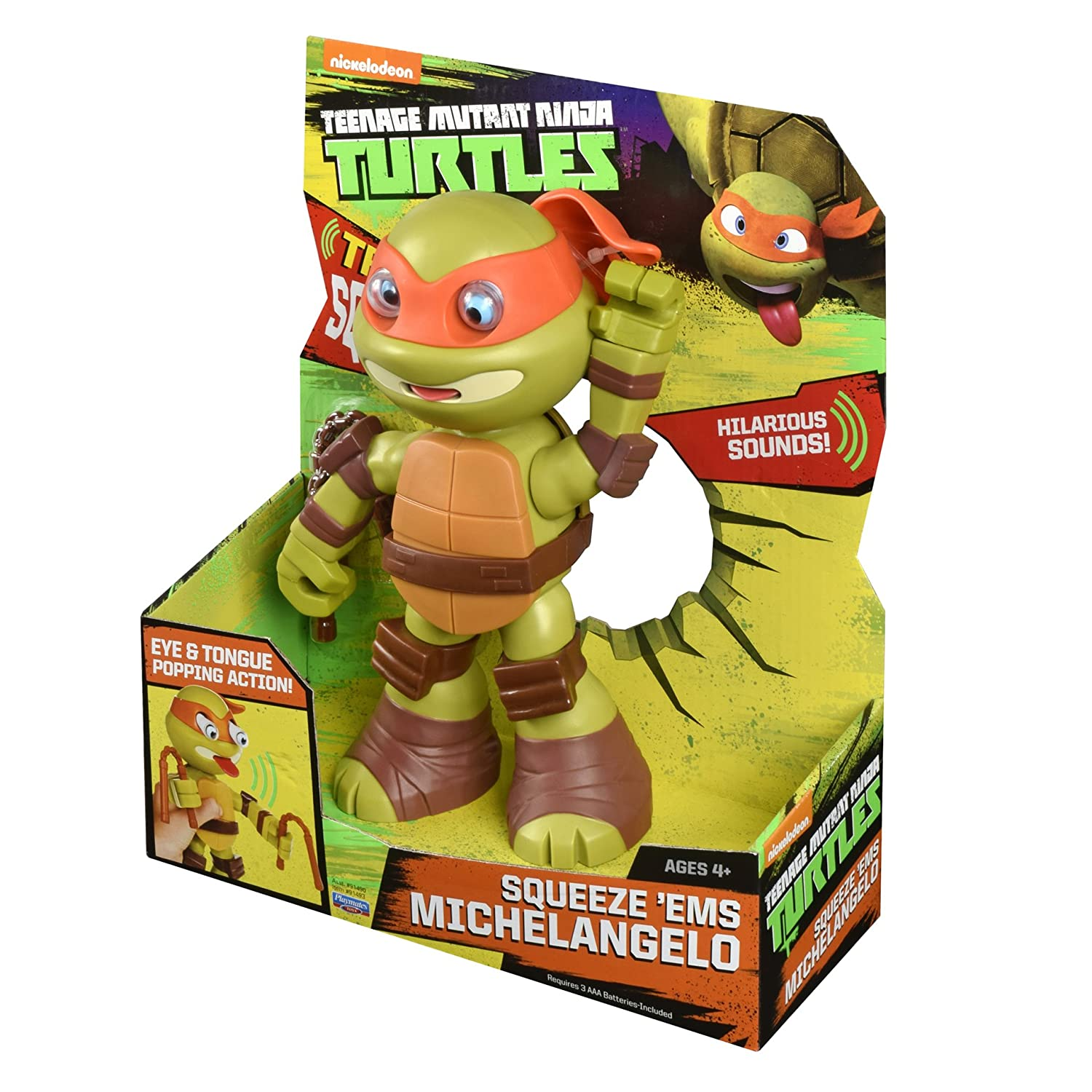 Amazon.com: Teenage Mutant Ninja Turtles Squeeze EMS Michelangelo Action Figure: Toys & Games