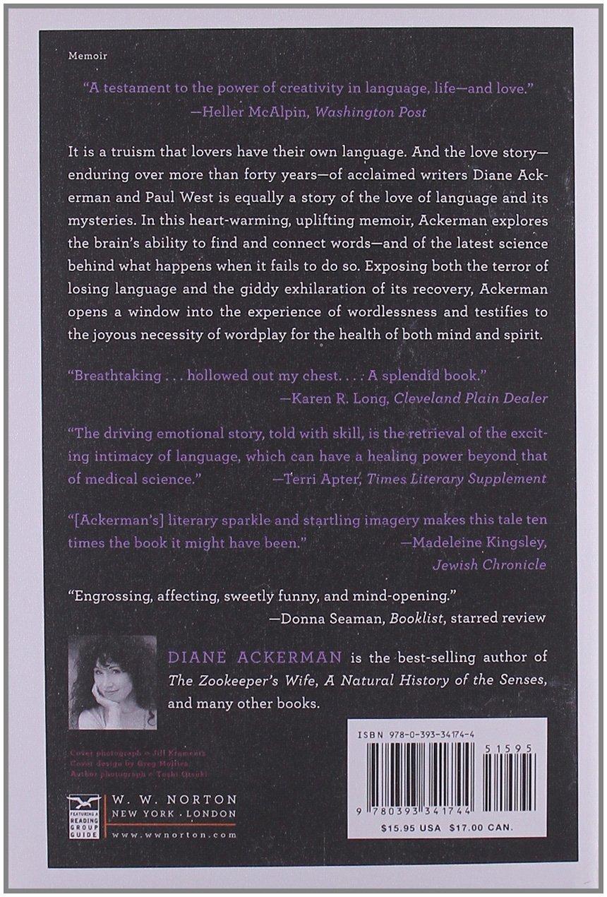 One Hundred Names for Love: A Memoir: Diane Ackerman: 9780393341744:  Amazon.com: Books