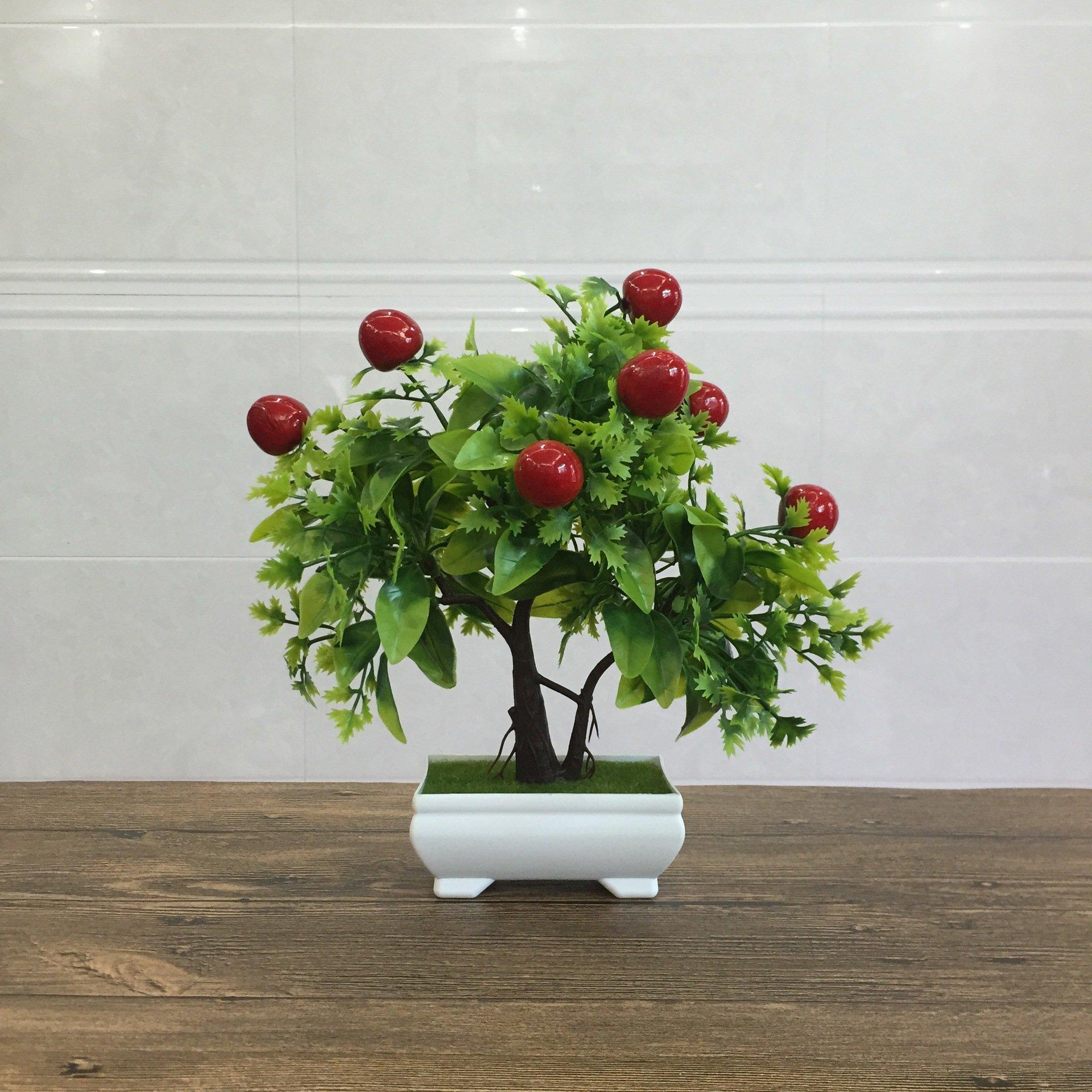 Artificial Fruit Orange Apple Lemon Tree Bonsai For Wedding Party Home Decoration Fake Green Pot Plants Flowers Ornaments Cherry Buy Online In Bosnia And Herzegovina At Bosnia Desertcart Com Productid 174110764