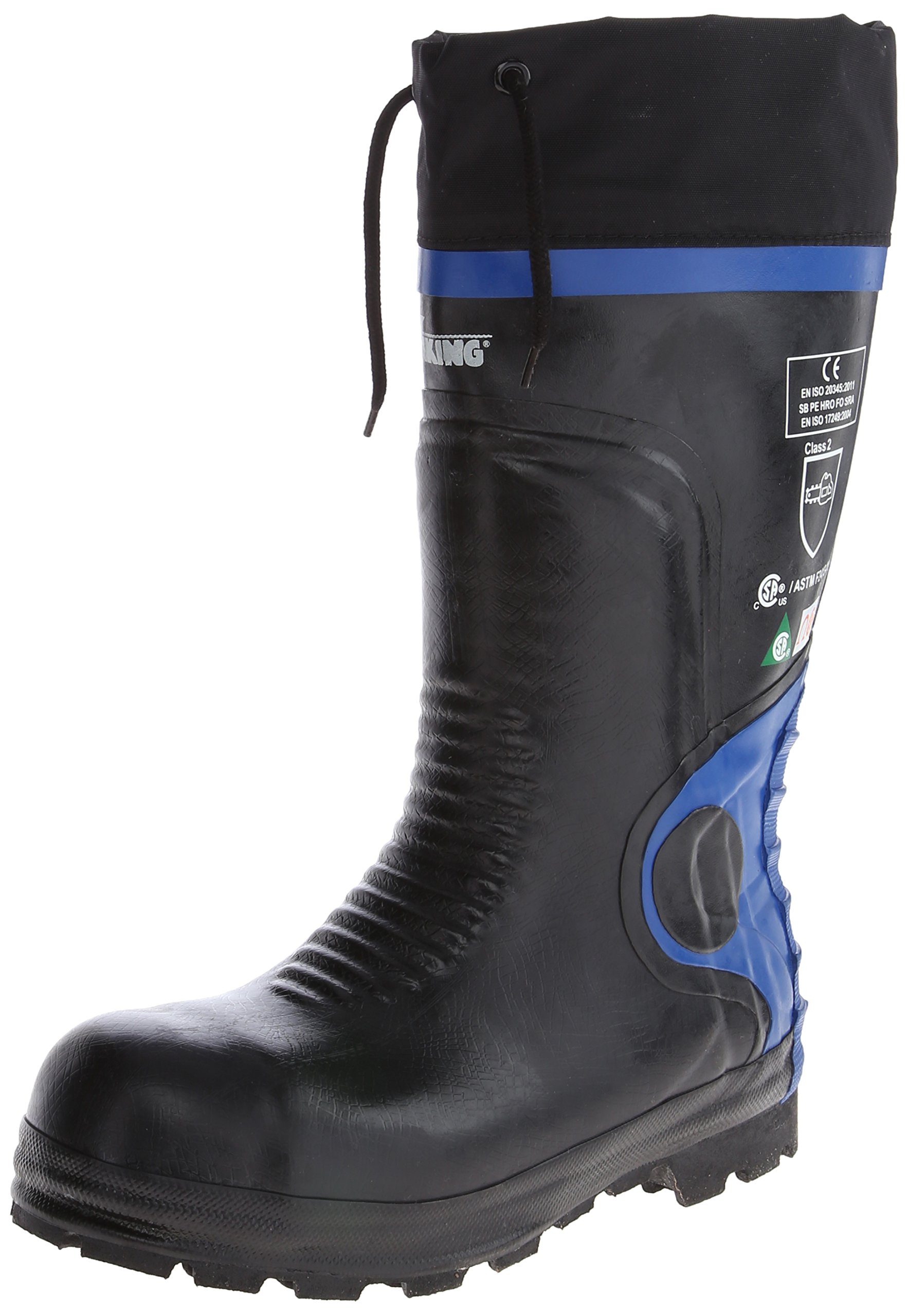 Viking Footwear Ultimate Construction Waterproof Boot,Black/Blue,13 M US