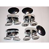 Set of 4 new Oval Metal alloy twin wheel Shower door rollers