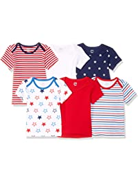 Amazon Essentials Baby 6-Pack Lap-Shoulder Tee