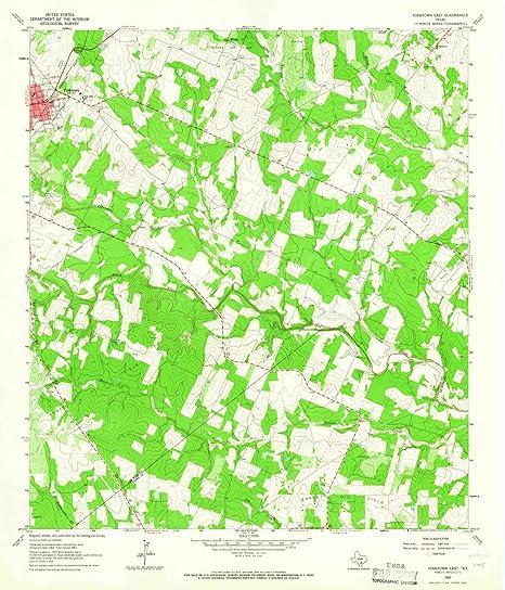 Map Of Yorktown Tx.Amazon Com Yorktown East Tx Topo Map 1 24000 Scale 7 5 X 7 5