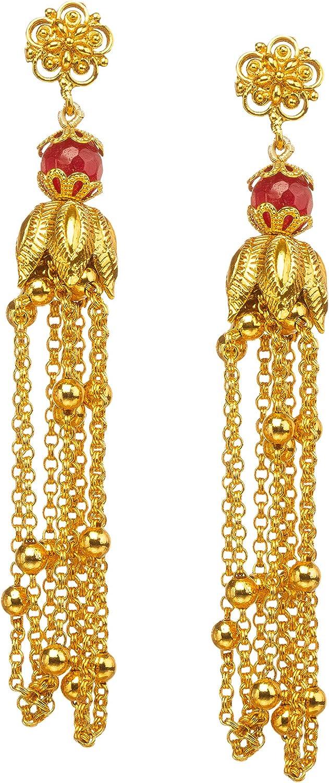 Indian Bollywood Women Wedding Pearl Kundan Maala Necklace Earring Jewelry Set