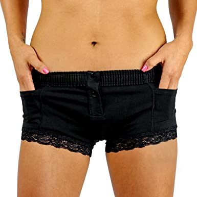 Foxers Women s Boxer Brief Underwear with Pockets Cotton Boy Shorts Panties  at Amazon Women s Clothing store  f3a37a452d