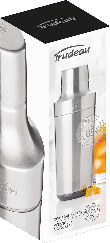 grau Trudeau 5060086 Easy Pour Cocktail Shaker Edelstahl 600 ml