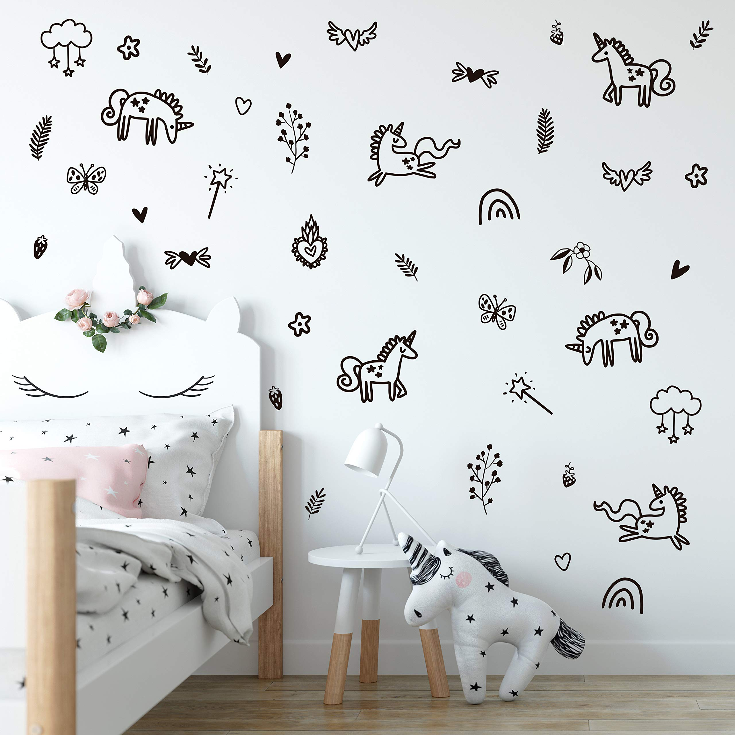 Vinilo Decorativo Pared [7L8PDDWZ] unicornio