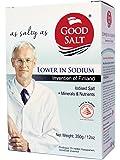 GOODSALT: The Better Salt with Potassium and Magnesium, Tasty Low Sodium Iodized Mineral Salt, Less Sodium Healthy Salt Substitute with Real Salt Taste, Pack of 12 OZ