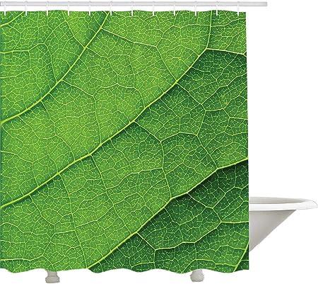 Yeuss Rideau de Douche Green,Texture Macro de Feuille Verte ...
