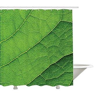 Yeuss Rideau de Douche Green,Texture Macro de Feuille Verte avec des ...