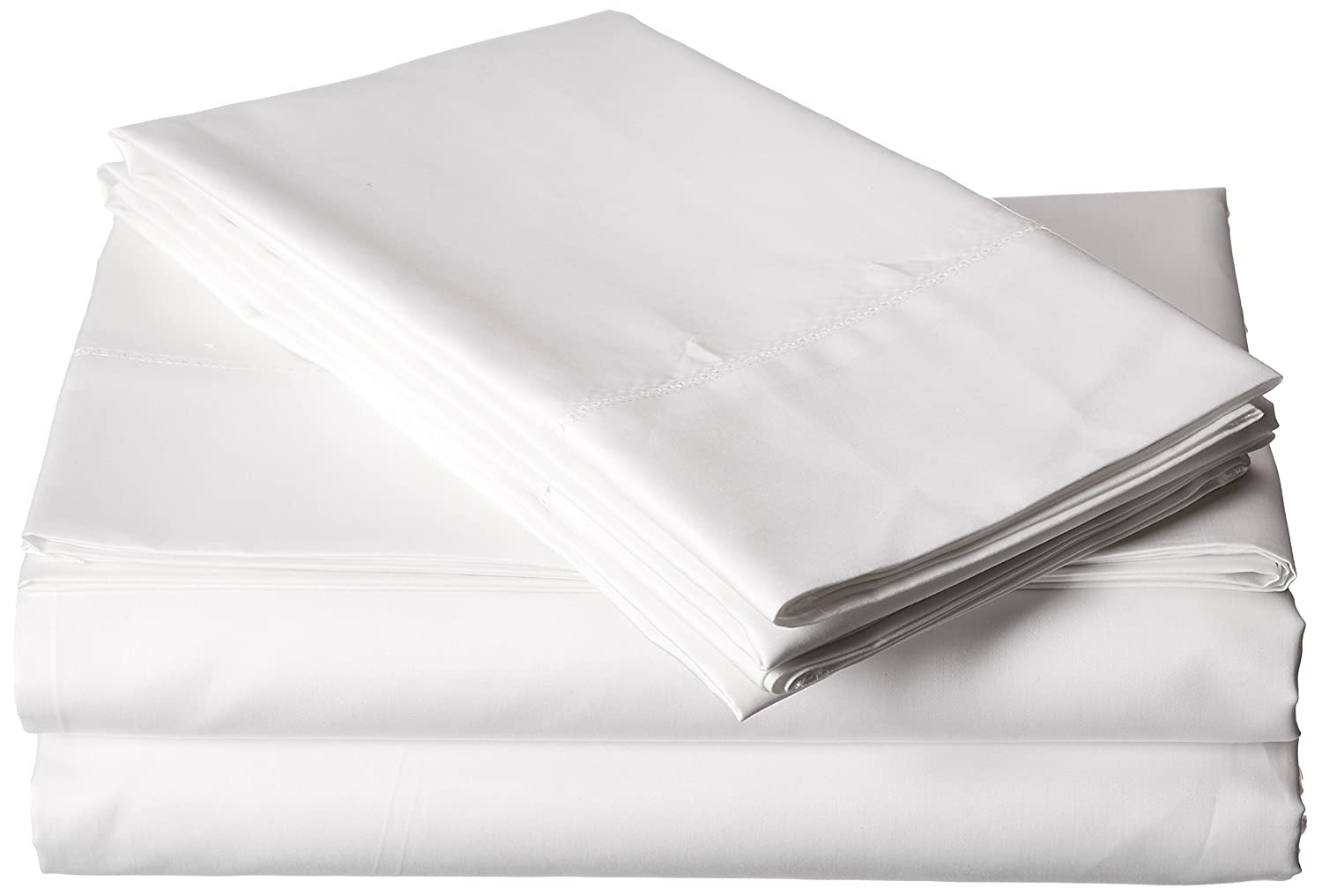 Tribeca Living Egyptian Cotton Sateen 800 Thread Count Hemstitched Deep Pocket Sheet Set, California King