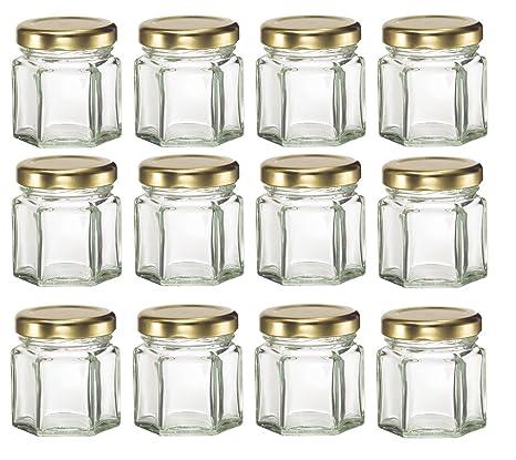 Honey Wedding Favors.Chefland 12 Piece 1 5 Oz Mini Hexagon Glass Jars For Jam Honey Wedding Favors Shower Favors Baby Foods Diy Magnetic Spice Jars