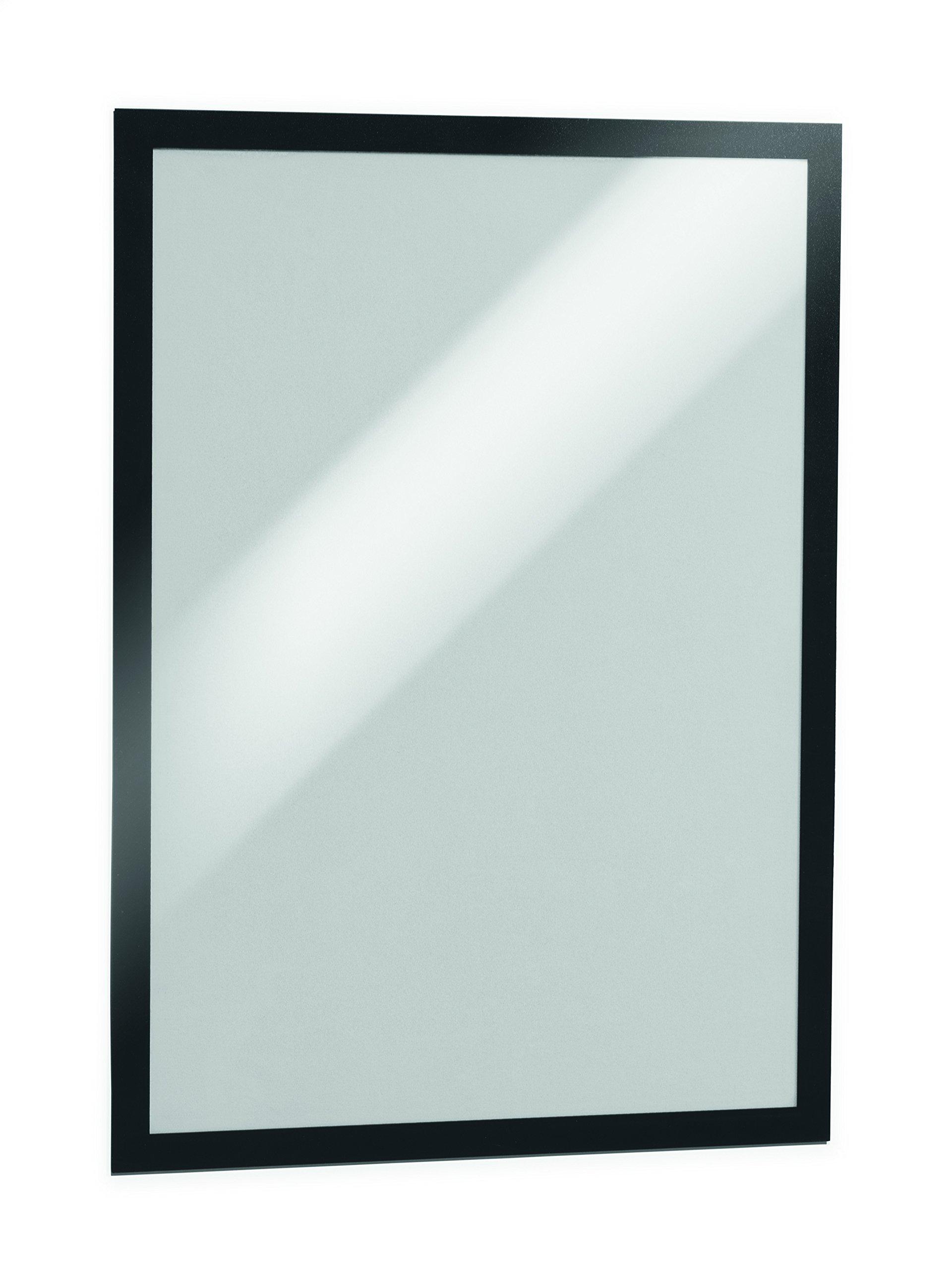 DURABLE DURAFRAME Tabloid, Self-Adhesive Magnetic Frame, 11'' X 17'', Black, 2-pack (476901)