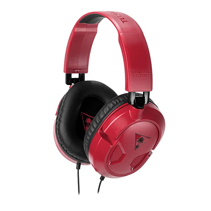 Turtle Beach - Recon 50 Rojo Auriculares Gaming Para (PC, Nintendo Switch, PS4, Xbox One): Amazon.es: Videojuegos