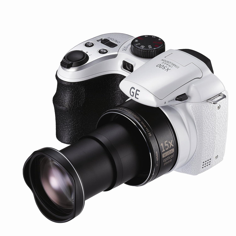 GE X5 Bridge Style Compact Digital Camera - White: Amazon.co.uk: Camera &  Photo