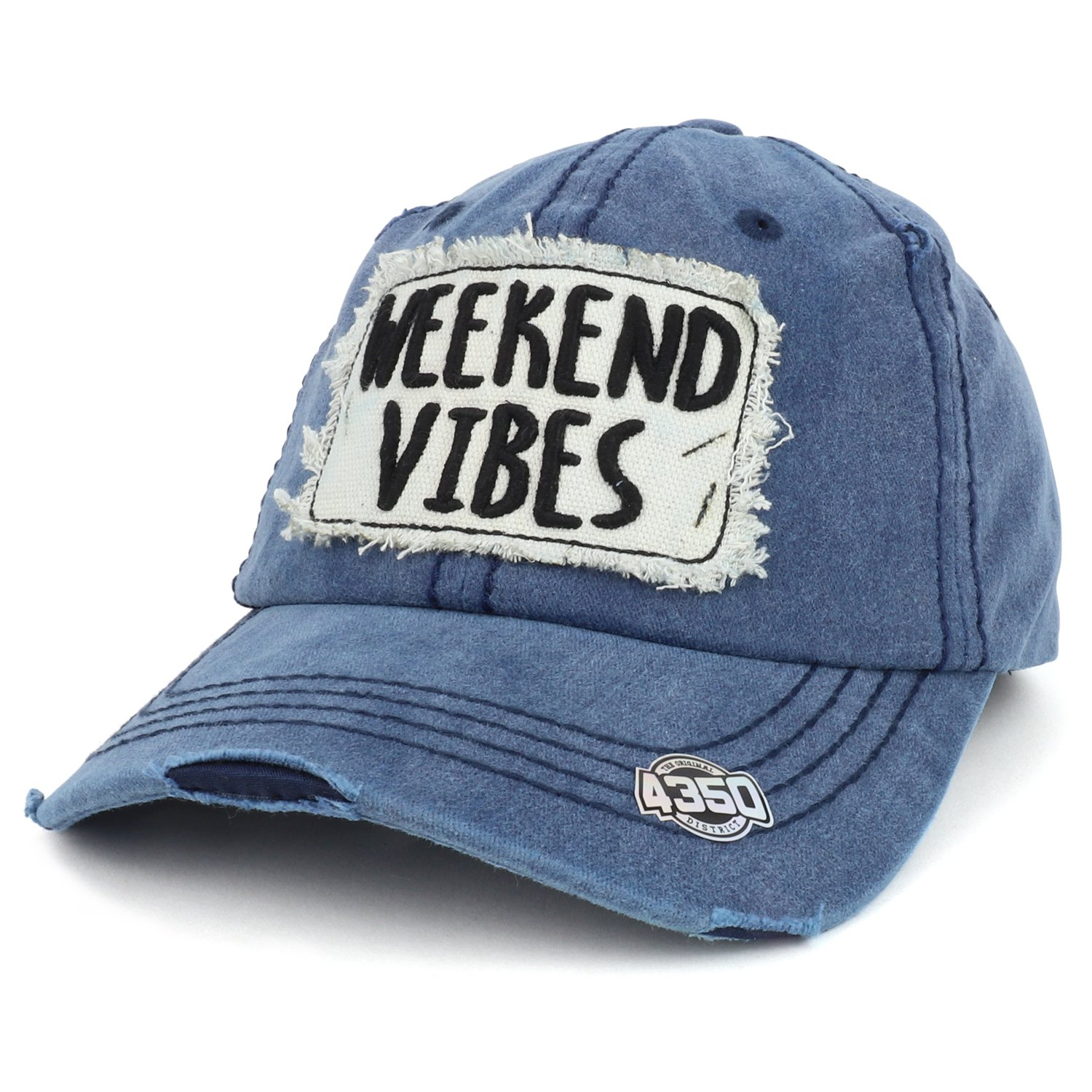 Trendy Apparel Shop Weekend Vibes 3D Letter Embroidered Frayed Vintage  Unstructured Baseball Cap - Navy at Amazon Women s Clothing store  0f850a29f6f
