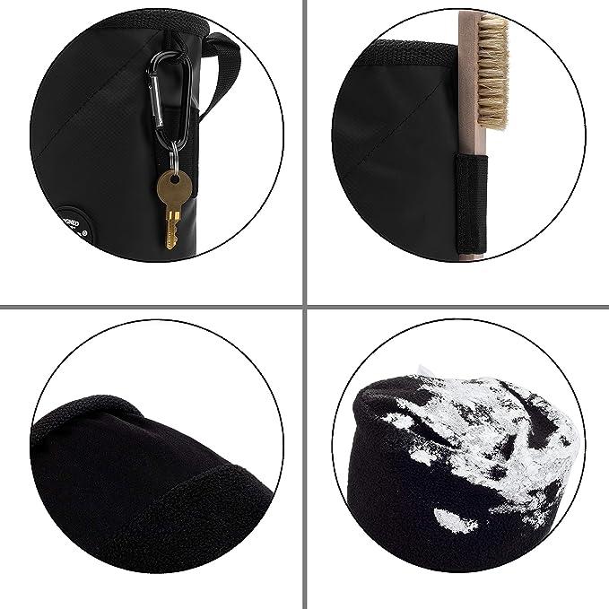Igoera Chalk Bag R/églable Sac magn/ésie Robuste et /étanche /à la poussi/ère Meilleure Prise et Plus de stabilit/é Sac /à magn/ésie Escalade et Bloc