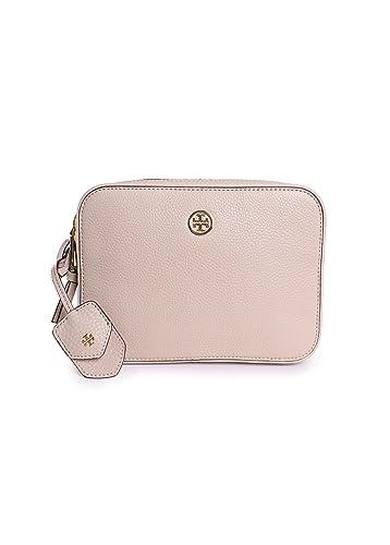 e7ee51253 Tory Burch Robinson Pebbled Double Zip Crossbody in Beige: Handbags:  Amazon.com