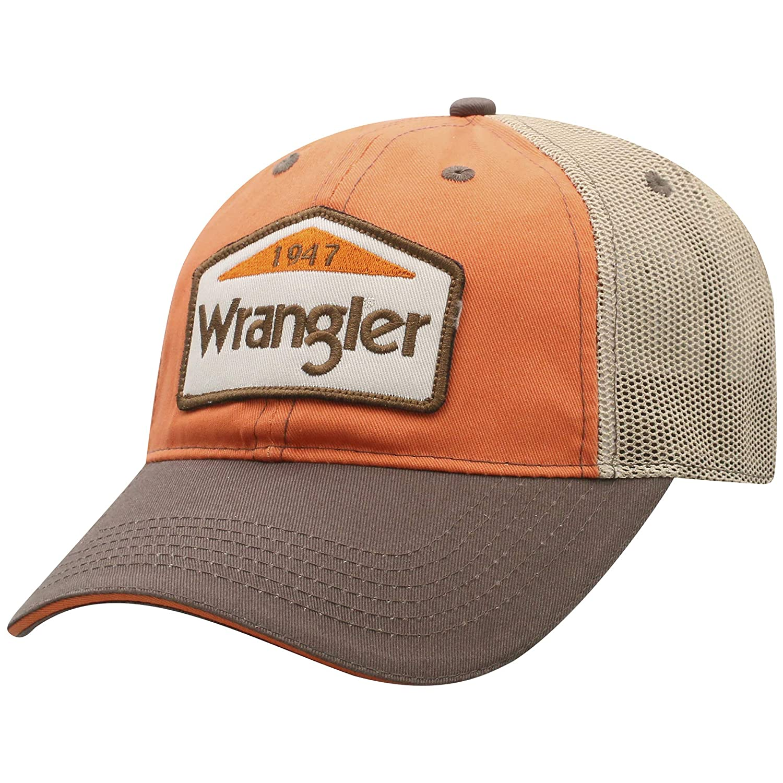 Wrangler Men s 1947 Mesh Back Trucker Cap at Amazon Men s Clothing store  9fc6840a20dc