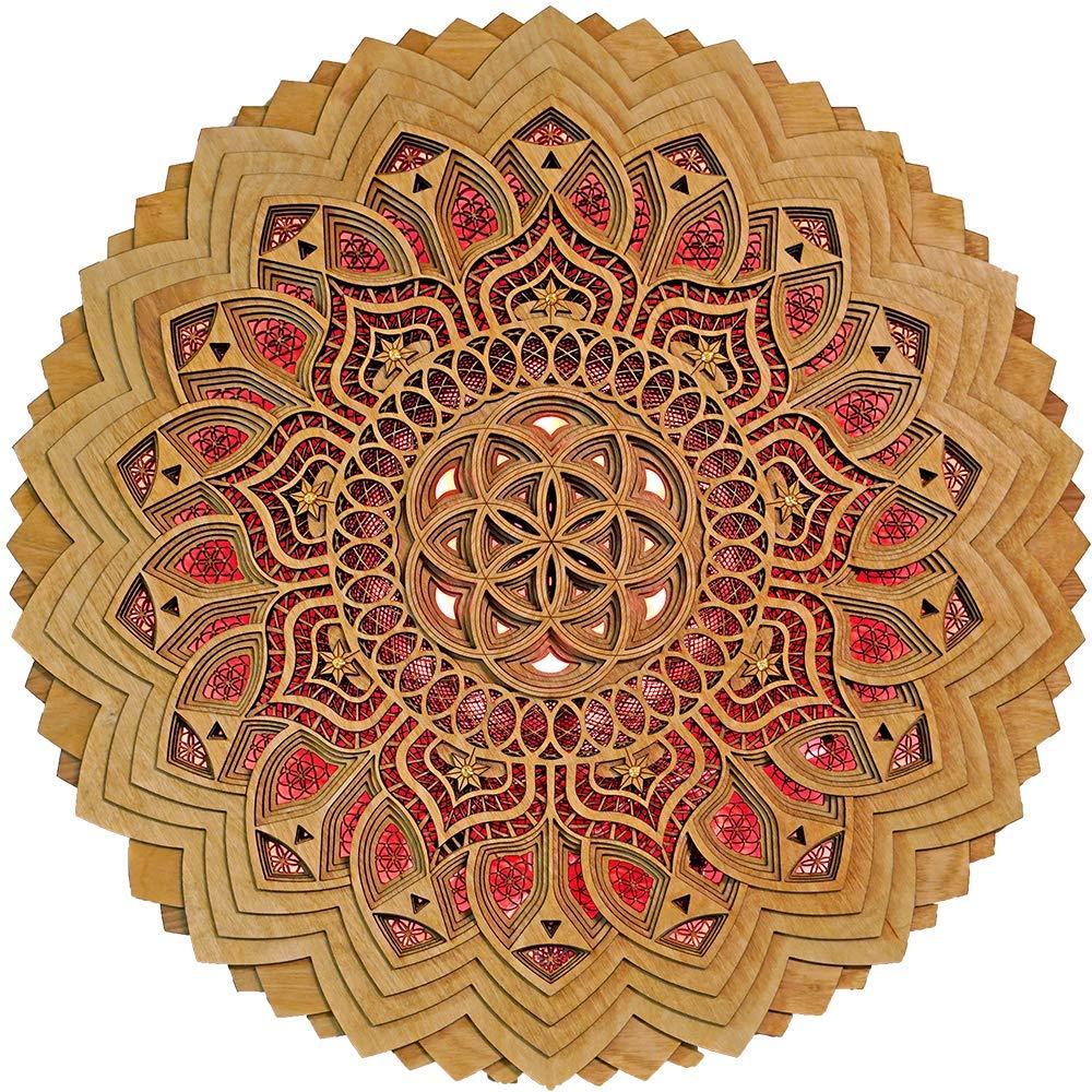 1 18 Stainless Steel Mandala of Understanding with ethiopian opal