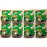 3M Scotch Scotch Magic Tape, 3/4 x 300 Inches, 8 Rolls (3105)