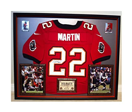 reputable site bcbe0 6b1ce Premium Framed Doug Martin Autographed/Signed Tampa Bay ...