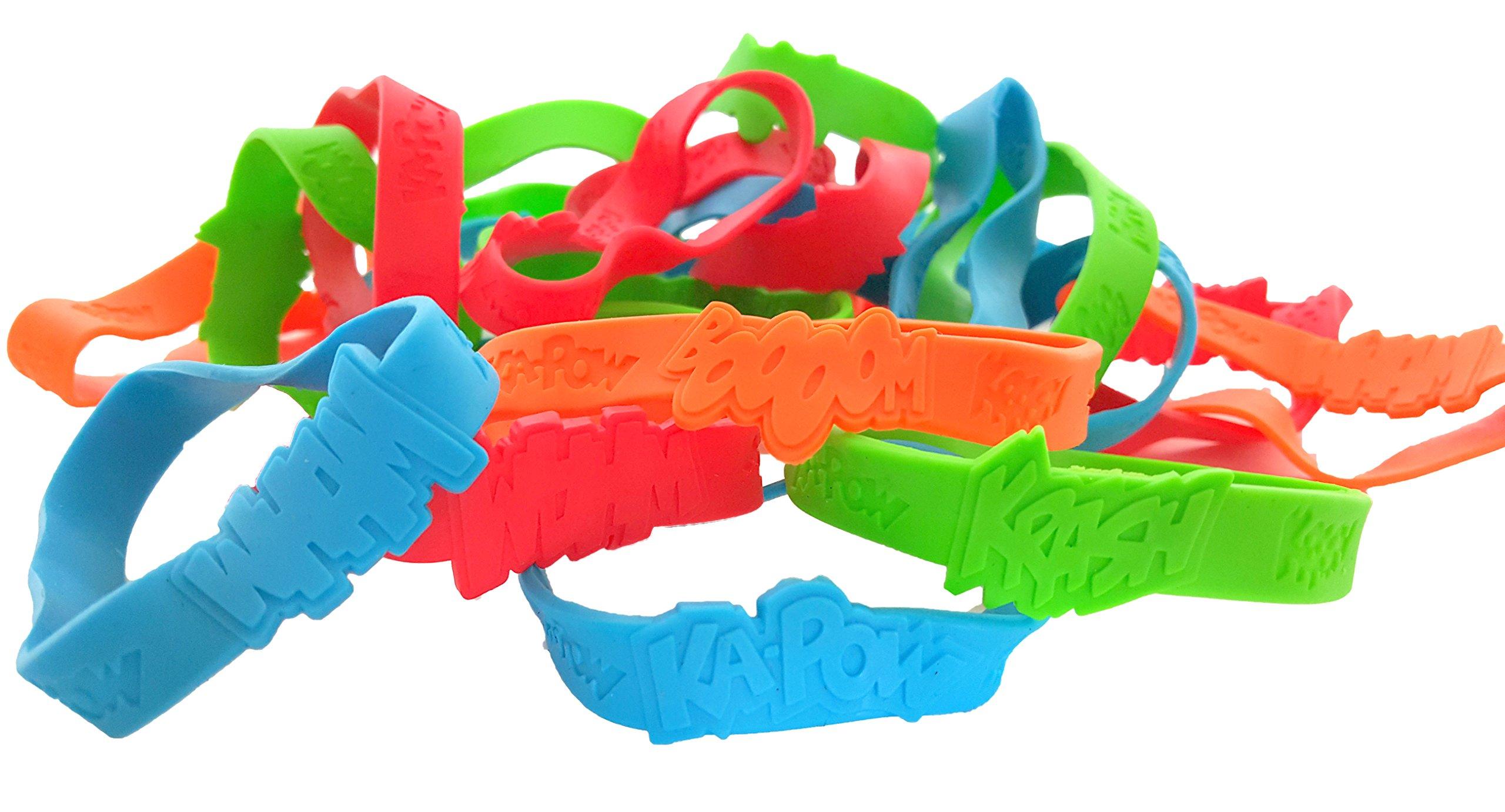 Dondor SUPERHERO' Rubber Bracelets For Children, By (SUPERHERO - 96 Pack)