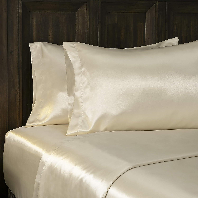 BALTIC LINEN Luxury Satin Super Soft Sheet Sets Gold 0361129180 Full