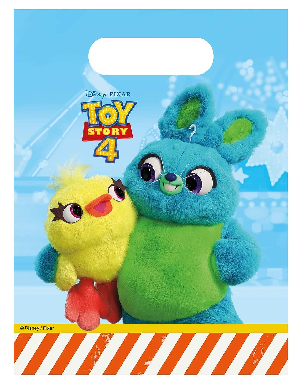 COOLMP - Lote de 6 Bolsas de Regalo Toy Story 4, Talla única ...