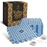 Blocking Mats for Knitting | EXTRA THICK - with Grids Guaranteed to Align - Includes 100 Stainless Steel T-Pins and 60-Inch Sewing Tape Measure