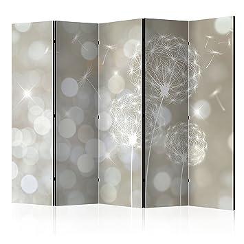 Paravent repliant XXL 225x172 cm decomonkey Impression sur Le Papier intiss/é 100/% d/écoratif Opaque Foto en Bois avec Interieur Impression Spa Fleurs cloison pour s/éparer Une Piece