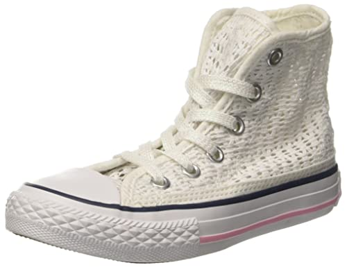 Converse All Star Hi Tiny Crochet - Zapatillas Abotinadas Unisex Niños: Amazon.es: Zapatos y complementos