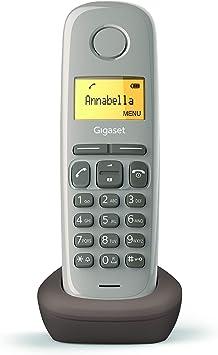 Gigaset A170 - Teléfono Inalámbrico, Pantalla Iluminada, Agenda de 50 Contactos, Color Chocolate: Amazon.es: Electrónica