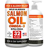 32oz Salmon Oil Omega 3 for Dogs - Fish Oil for Pets - Joint Health - Allergy Relief - Itch Relief, Shedding - Skin and Coat