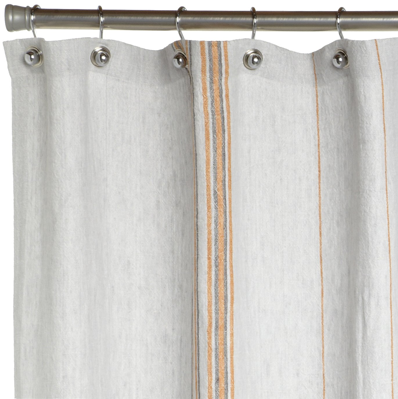 Amazoncom Coyuchi Rustic Linen Shower Curtain Pewter With - White linen shower curtain