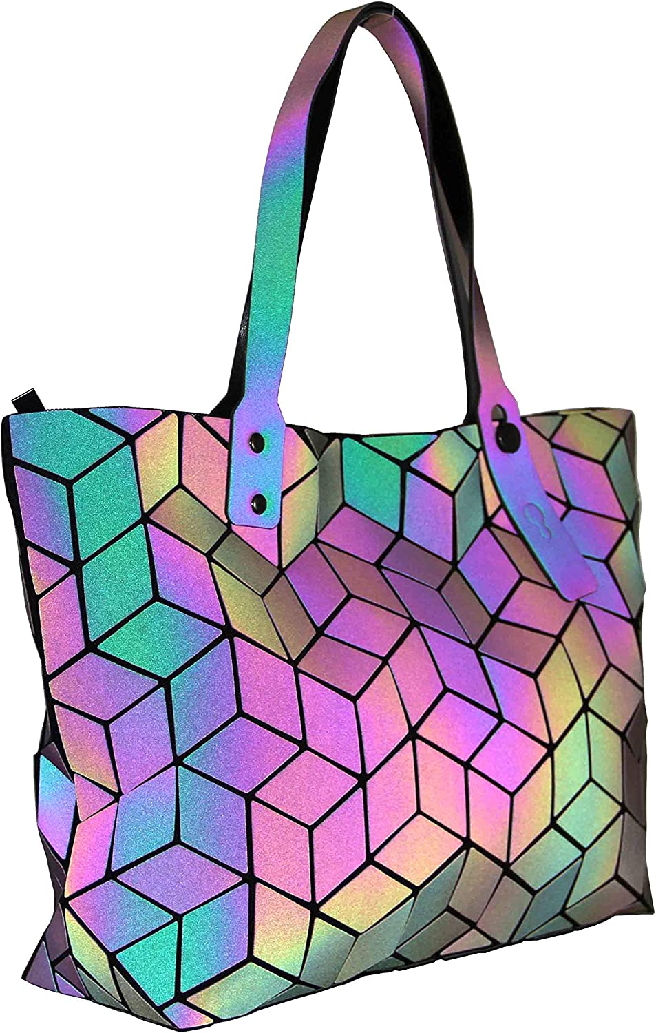 Fashion Backpack Collection Geometric Luminous backpack Reflective Purse Tote Bag Holographic Wallet Laser Backpack for women