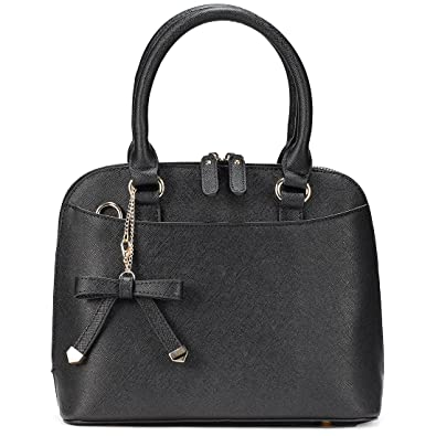 Sak Co. Women s Chic Leather Zip-Around Structured Satchel Tote Bag ... 02c88349d6228