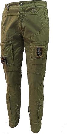 Aeronautica Militare Pantalon Anti G Pa1284ct 07214 Verde Militar Hombre Trousers Pants Hosen Amazon Es Ropa Y Accesorios