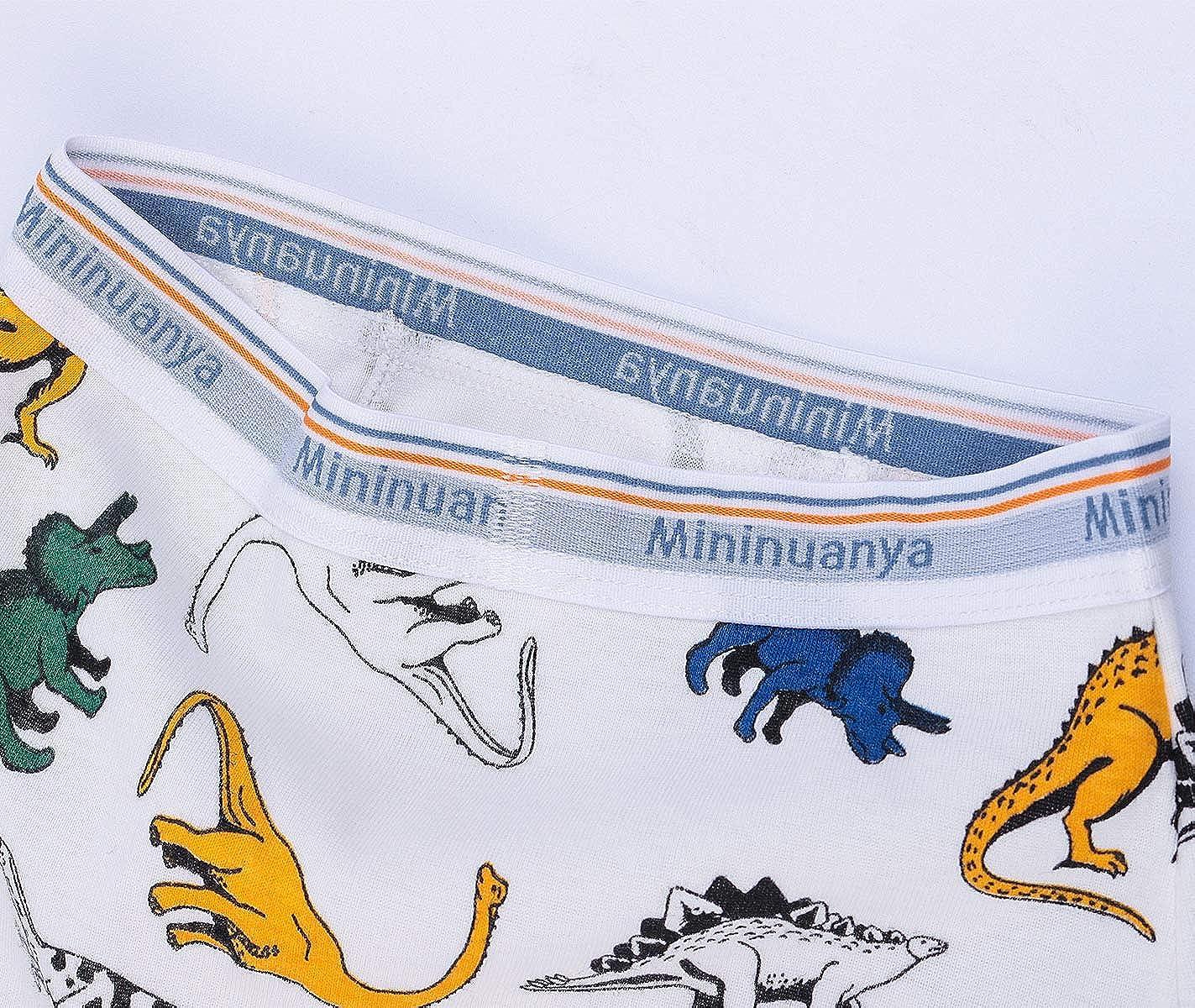 Auranso Dinosaur Truck Boys Pants 6 Pack Toddler Boys Underwear Briefs Kids Cotton Underpants 2-8 Years