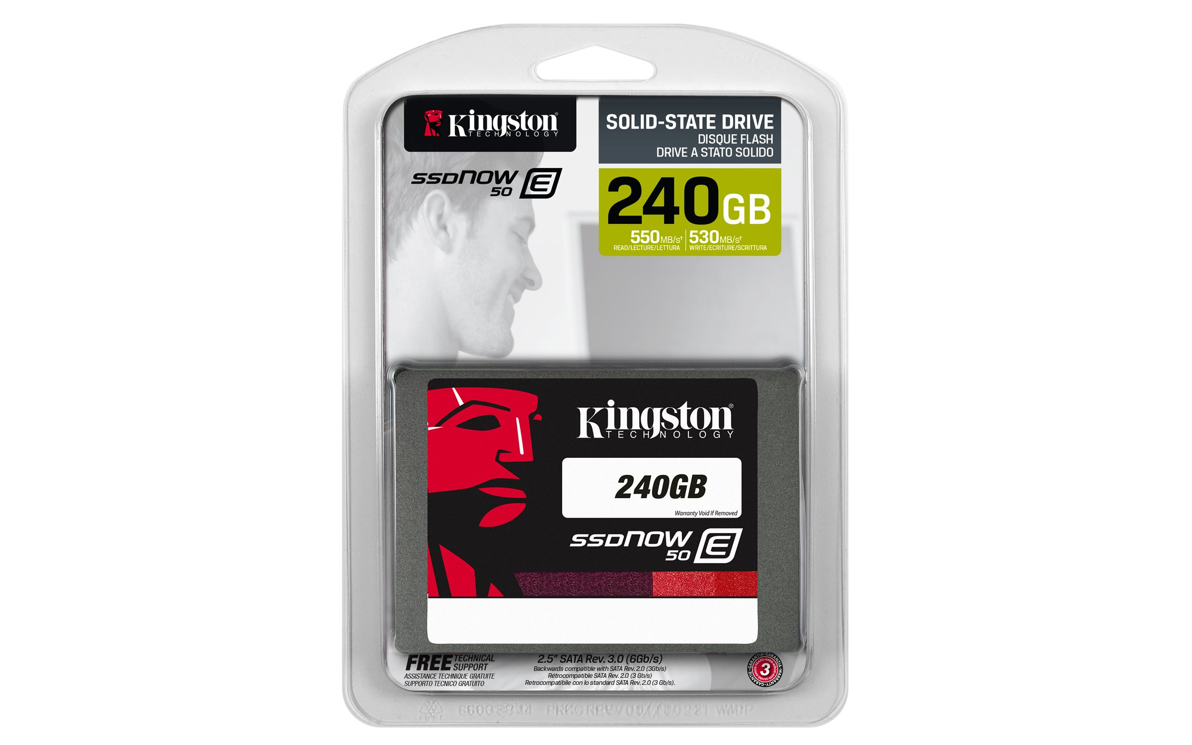Kingston Digital, Inc. SSDNow E50 240GB 2.5-Inch Solid State Drive SATA SE50S37/240G by Kingston