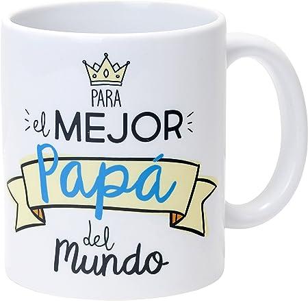 Mopec Taza Cerámica para el Mejor Papá, Porcelana, Blanco, 8.1x8.1x9.5 cm