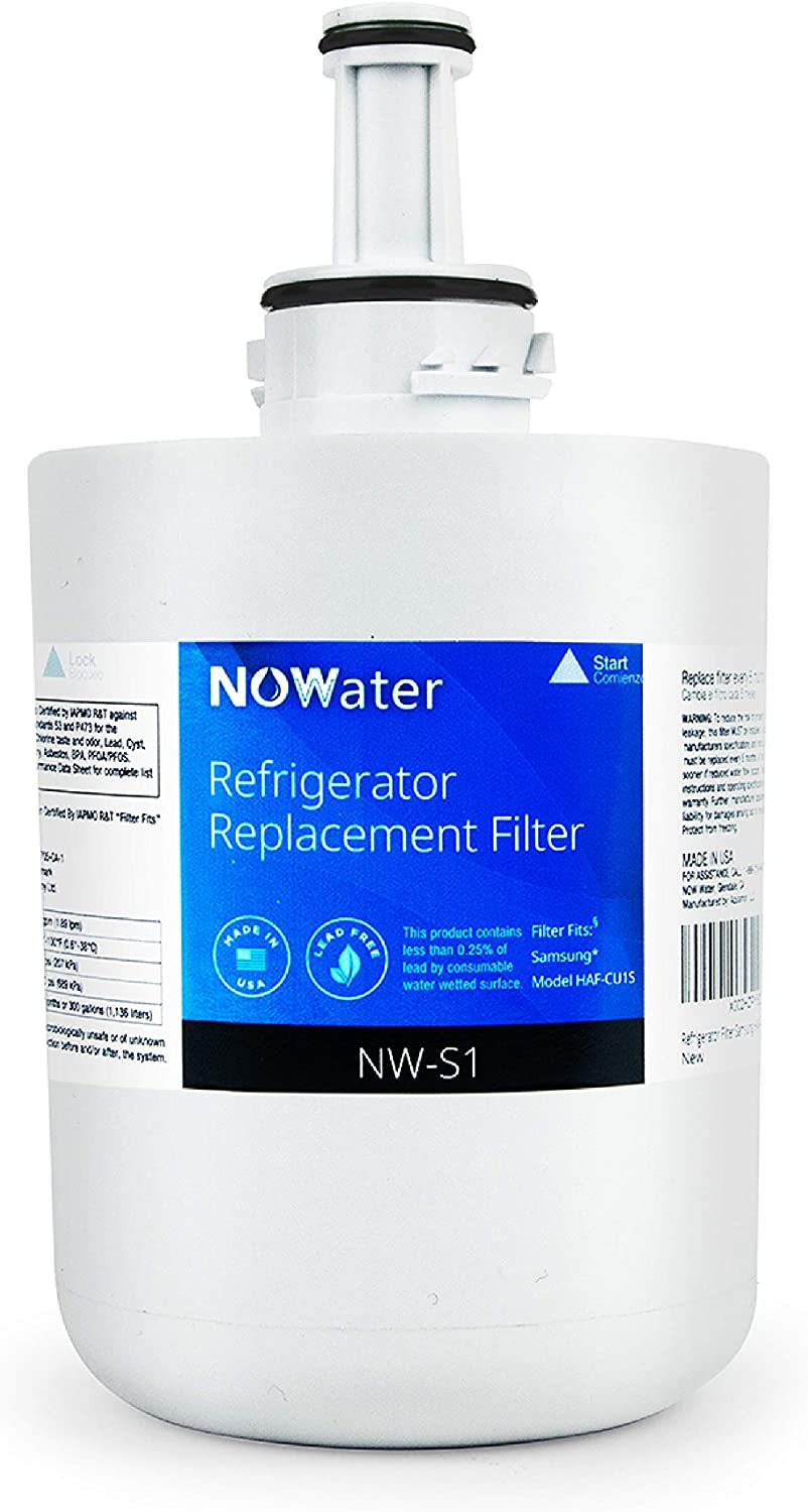 Now Water | Premium Replacement Samsung Refrigerator Water Filter | Made in USA NSF UPC Certified Filter Replacement | HAF-CU1S, HAF-CU1, DA00003A, DA29-00003, DA29-00003A-B, more | 1 Pack