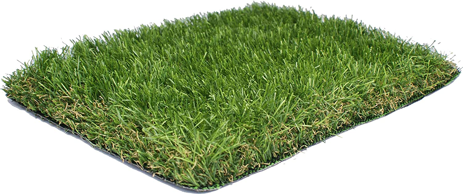 Artificial Grass Duxbury 40mm Pile Height | Sold per 50cm Choose 2m or 4m Wide | Quality EU Manufactured | High Density Fake Turf Green Landscaping Grass Garden (2m) AGD
