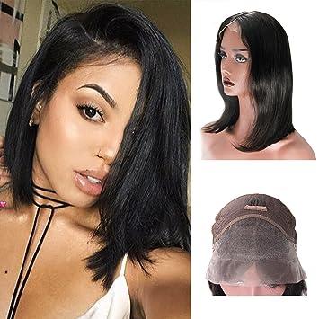 Amazon 8a Malaysian Hair Short Bob Cut Wigs Middle Part Human