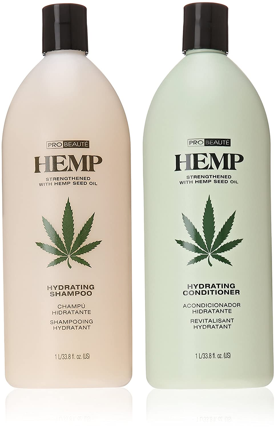 Hemp Hydrating Shampoo and Hydrating Conditioner, 33.8 Oz, Pack of 2