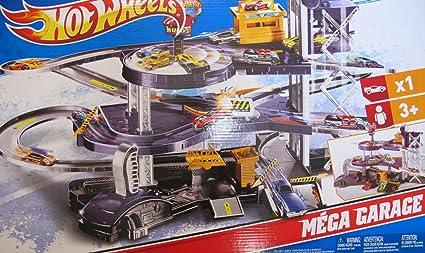 Amazoncom Hot Wheels Mega Garage Multi Level Action Playset With