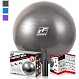2000lbs Exercise Stability Ball By RitFit, Anti Burst for Pilates Yoga Gym Fitness&Balance, Hand Pump& Workout Guide Included,Gym Quality&Phthalate Free